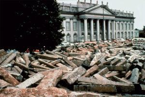 Stacked steles, Documenta VII, Kessel, 1982