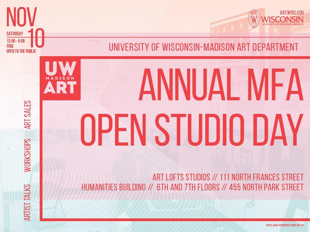 Annual Master of Fine Arts Open Studio Day Saturday, November 10 @ 12 – 6pm