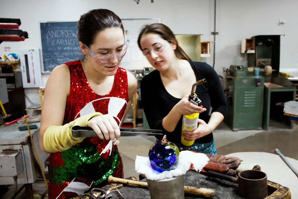 UW Glass Holiday Ornament Sale + Live Glassblowing Event
