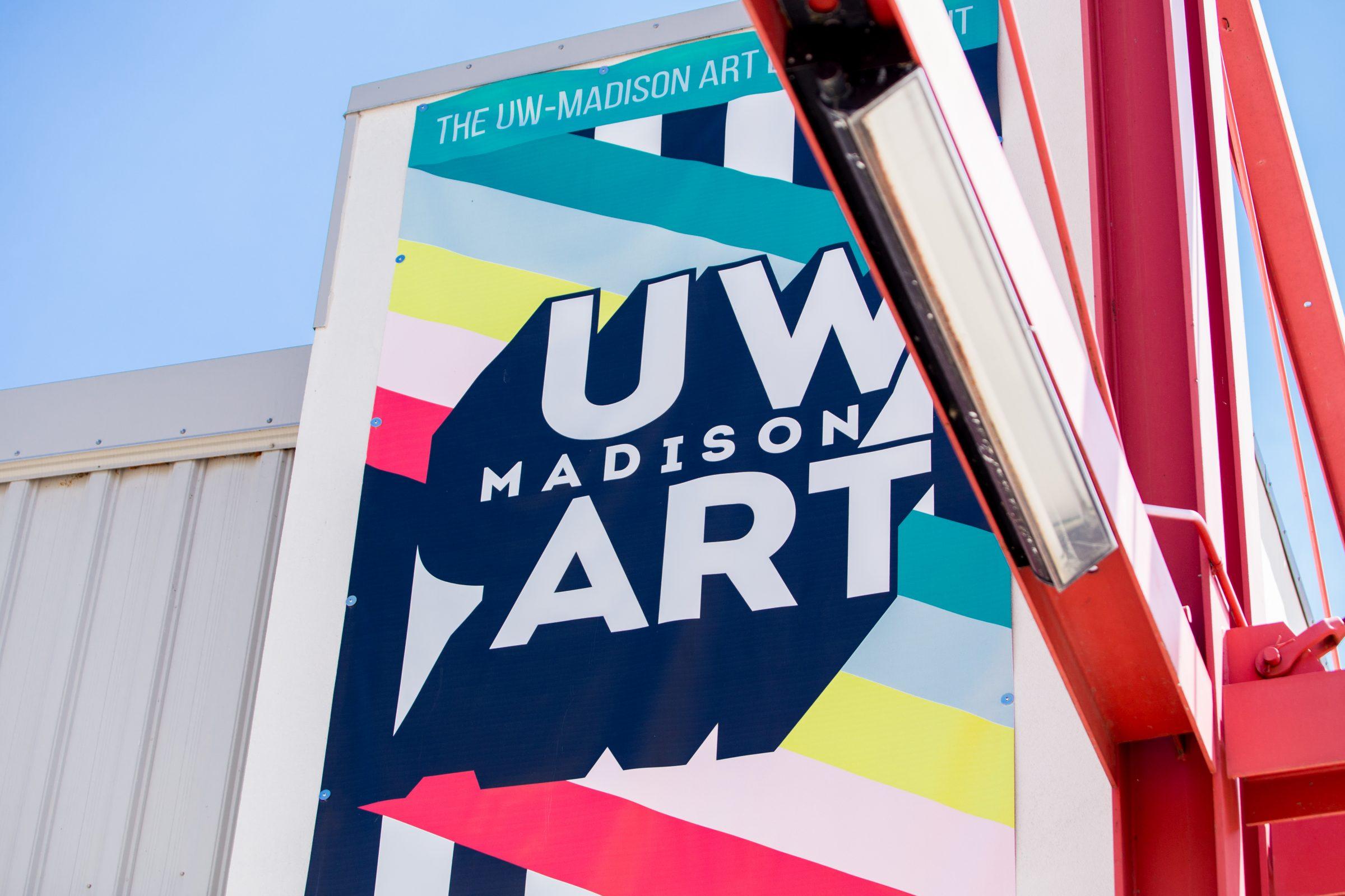 Art Lofts Building Exterior featuring the UW Art banner.