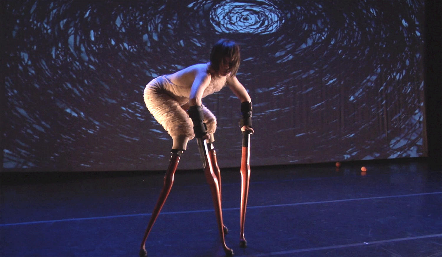 Art performance by differently abled artist Lisa Bufano