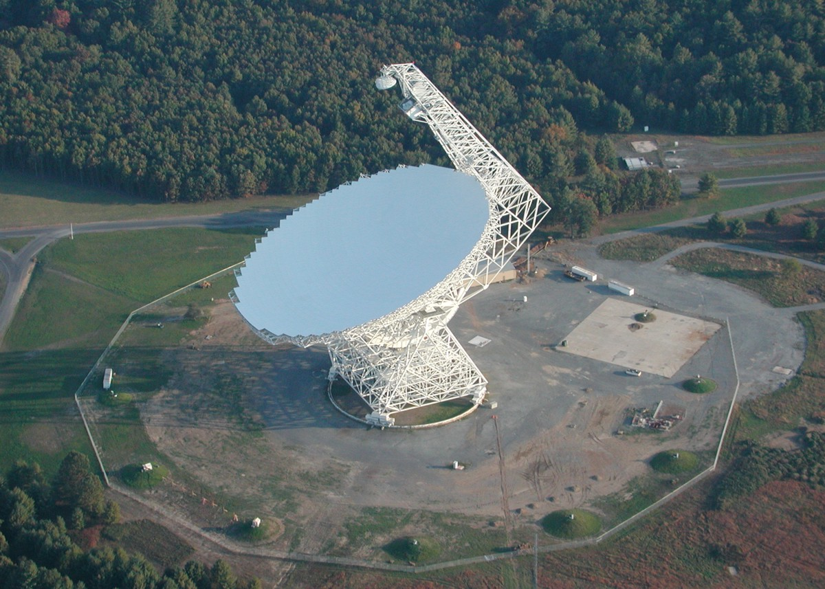 The Robert C. Byrd Green Bank Telescope is the world's largest, fully steerable radio telescope.
