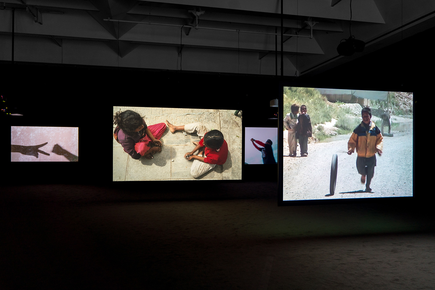 Exhibition view of the series Children's Games by Francis Alÿs