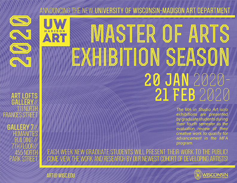 2020 Master of Arts Exhibition Season poster