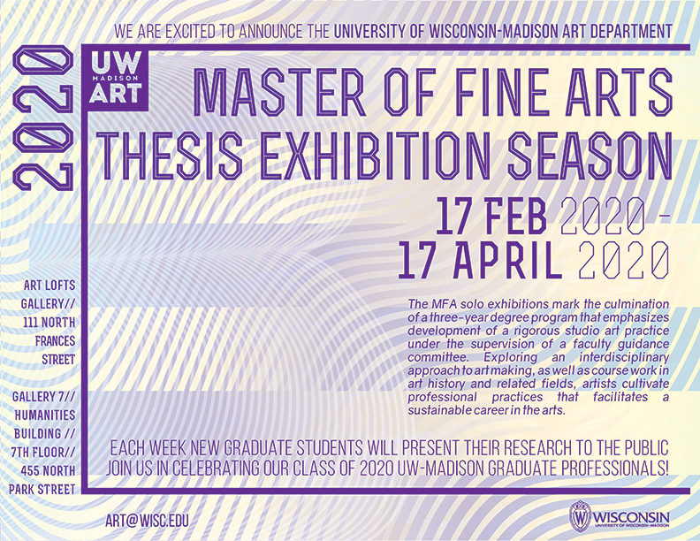 2020 Master of Fine Arts Exhibition Season poster