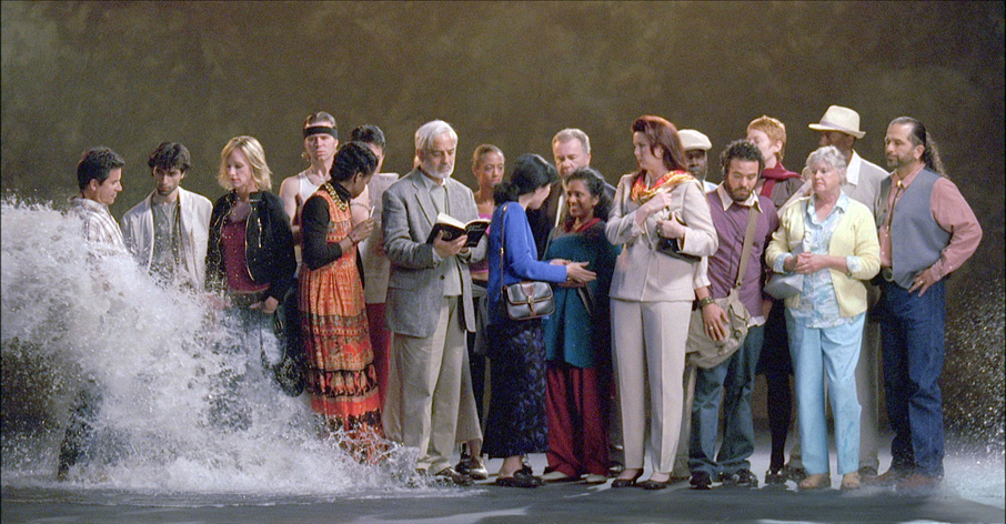 A still from the installation The Raft by Bill Viola