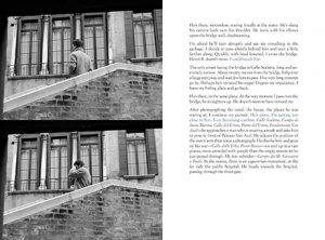 Page spread from The artist Sophie Calle's novel Suite Vénitienne/Please Follow Me,1983