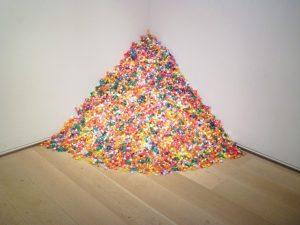 Untitled, (Portrait of Ross in L.A.) art installation by Felix Gonzalez-Torres