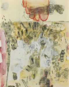Canto XIV: Circle Seven, Round 3, The Violent Against God, Nature, and Art, from the series Thirty-Four Illustrations for Dante's Inferno by Robert Rauschenberg