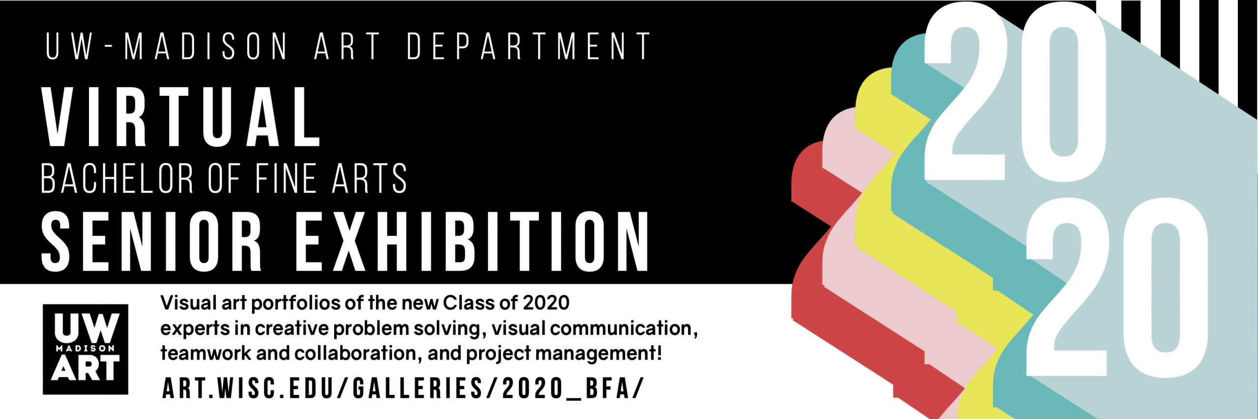 2020 UW Art Virtual BFA Senior Exhibition banner