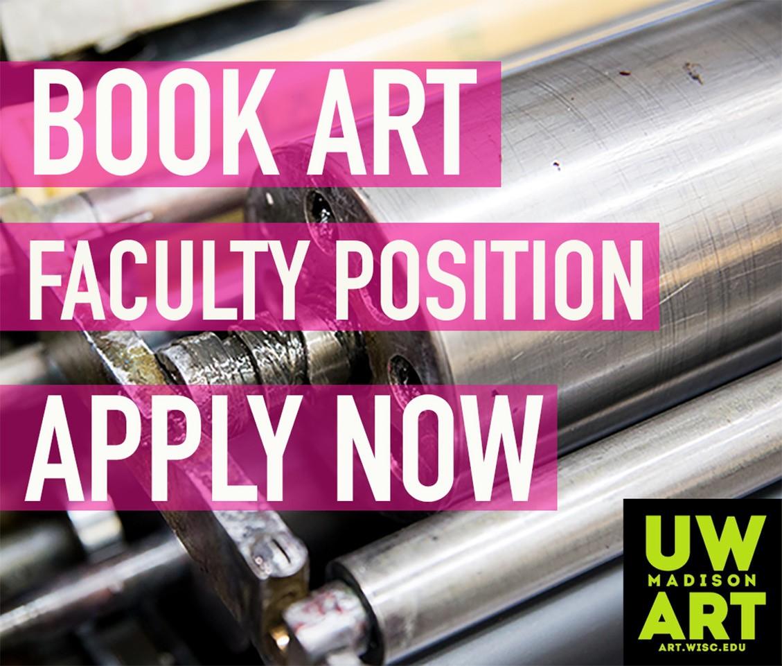 Book Art faculty position header