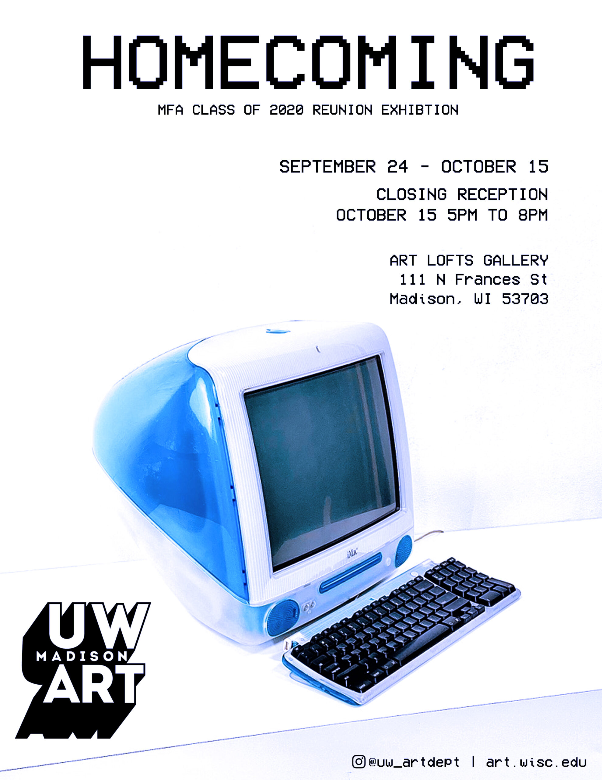 Homecoming exhibition flyer