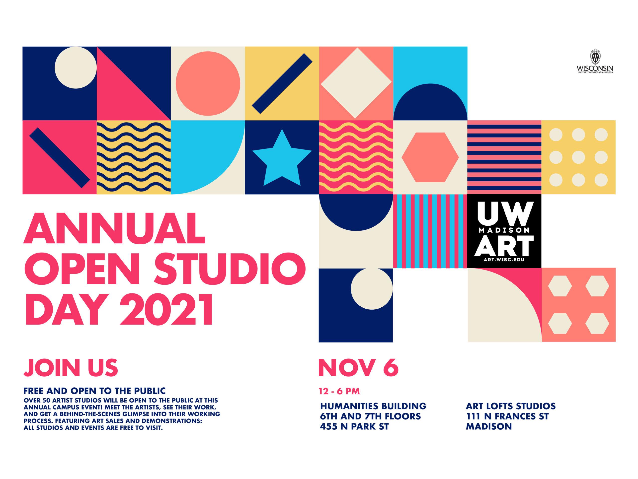 Annual Open Studio Day 2021 flyer